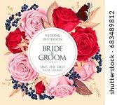 vintage wedding invitation | Shutterstock .eps vector #683489812