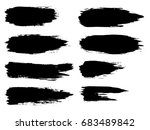 vector collection of artistic... | Shutterstock .eps vector #683489842