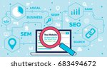 seo concept   search engine... | Shutterstock .eps vector #683494672