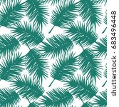 seamless exotic pattern with... | Shutterstock .eps vector #683496448