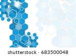 business brochure cover design... | Shutterstock .eps vector #683500048