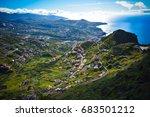 madeira farms on mountains | Shutterstock . vector #683501212