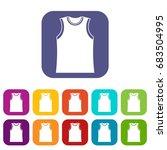 singlet icons set | Shutterstock .eps vector #683504995