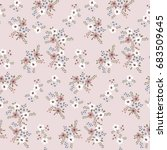floral seamless pattern of... | Shutterstock .eps vector #683509645