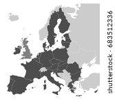 map of europe with dark grey eu ... | Shutterstock .eps vector #683512336
