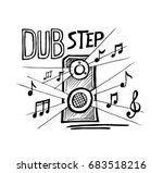 dubstep music style  sketch.... | Shutterstock . vector #683518216