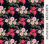 pretty vintage feedsack pattern ... | Shutterstock .eps vector #683518876