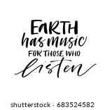 earth has music for those who... | Shutterstock .eps vector #683524582