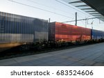 freight train with cargo...   Shutterstock . vector #683524606