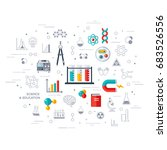 flat design vector illustration ... | Shutterstock .eps vector #683526556