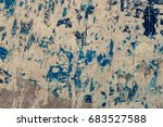 surface of old yellow blue... | Shutterstock . vector #683527588