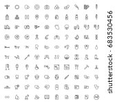 100 medical icons set on white... | Shutterstock .eps vector #683530456