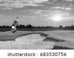 golf equipment and golf bag ...   Shutterstock . vector #683530756