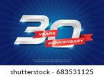 30 years anniversary background ... | Shutterstock .eps vector #683531125