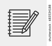 notebook icon illustration... | Shutterstock .eps vector #683534188