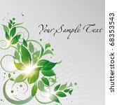 green floral background   Shutterstock .eps vector #68353543
