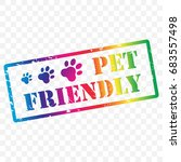pet friendly stamp icon with... | Shutterstock .eps vector #683557498