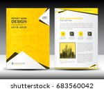 annual report brochure flyer... | Shutterstock .eps vector #683560042