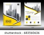annual report brochure flyer...   Shutterstock .eps vector #683560636