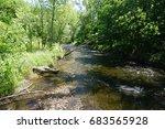 view upstream of minnehaha... | Shutterstock . vector #683565928