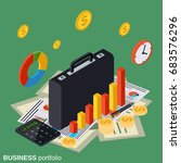 business portfolio  financial... | Shutterstock .eps vector #683576296