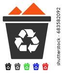full recycle bin flat vector... | Shutterstock .eps vector #683582092