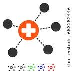 health care links flat vector... | Shutterstock .eps vector #683582446