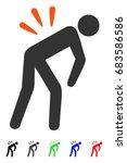 backache flat vector pictograph ... | Shutterstock .eps vector #683586586