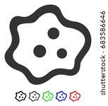 amoeba flat vector icon with... | Shutterstock .eps vector #683586646
