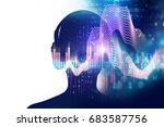 3d illustration of human with... | Shutterstock . vector #683587756