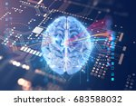 abstract  futuristic... | Shutterstock . vector #683588032