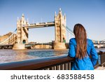 tower bridge london city travel ... | Shutterstock . vector #683588458