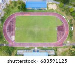 football field in track and... | Shutterstock . vector #683591125