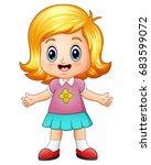 vector illustration of little... | Shutterstock .eps vector #683599072