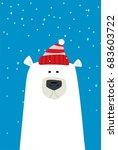Polar Bear Cartoon Vector...