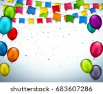vector holiday banner with... | Shutterstock .eps vector #683607286