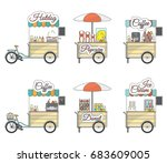 Vector Set Of Tricycle Bike And ...
