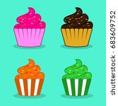 Cupcake Vector Illustration...