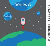 startup rocket and series a... | Shutterstock .eps vector #683619646