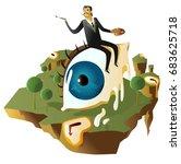 great surrealism painter on big ... | Shutterstock .eps vector #683625718