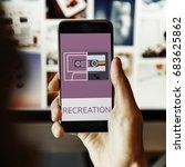 music audio recreation... | Shutterstock . vector #683625862