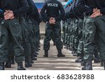 police field training outdoor  | Shutterstock . vector #683628988