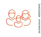 family icon flat. | Shutterstock .eps vector #683632642