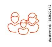 family icon flat. | Shutterstock .eps vector #683632642