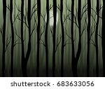 abstract vector forest... | Shutterstock .eps vector #683633056