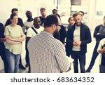 startup business team... | Shutterstock . vector #683634352