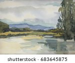 Summer Landscape With Lake....