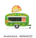 taco outdoor cafe service icon. ... | Shutterstock .eps vector #683646232
