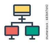 multiple computer icon | Shutterstock .eps vector #683647642