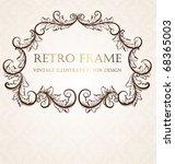 vintage frame | Shutterstock .eps vector #68365003